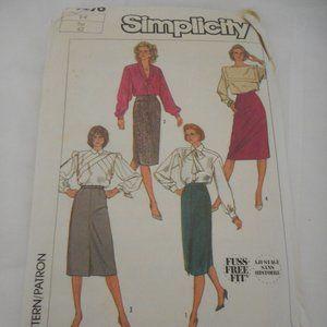 Vintage Simplicity skirt cut sewing pattern 7676